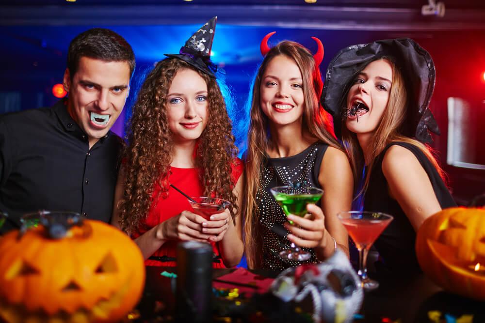 Friends in Halloween costume
